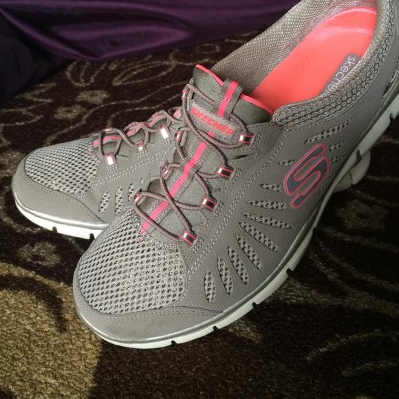 rasguño Error latitud  Skechers Shoes | Skechers Flex Elastic Lace Sneakers | Poshmark