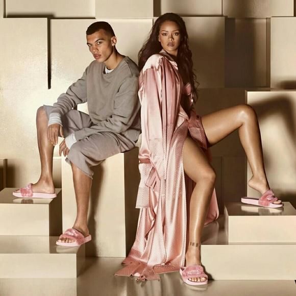 Puma Shoes - *SOLD* Rihanna Fenty Puma Fur Slide Sandals (Pink)