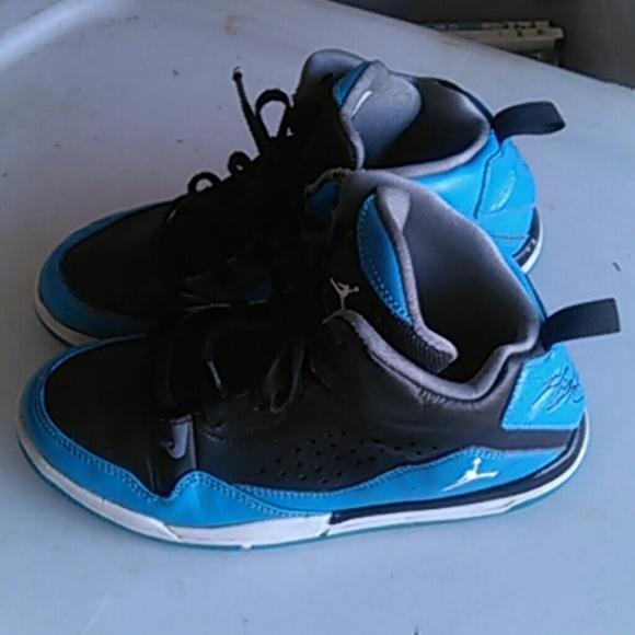 Black Blue Jordan Flight Shoes   Poshmark