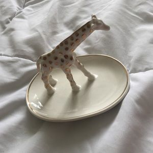 UO white and gold giraffe jewelry tray