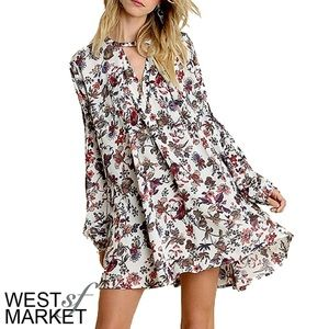 West Market SF Dresses & Skirts - -RESTOCKED- 🍂 Ivory Floral Tunic