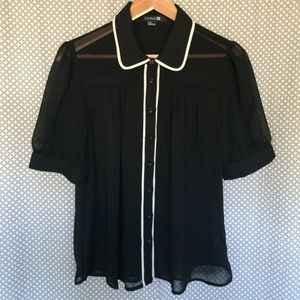 Forever 21 Tops - Retro Sheer Blouse