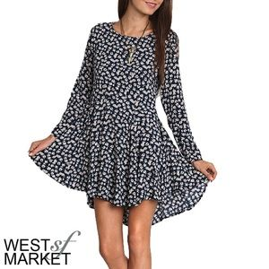 West Market SF Dresses & Skirts - High-Low Floral Dress