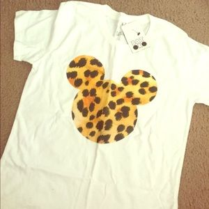 Batoko Tops - NWT Cheetah Mickey Shirt BATOKO