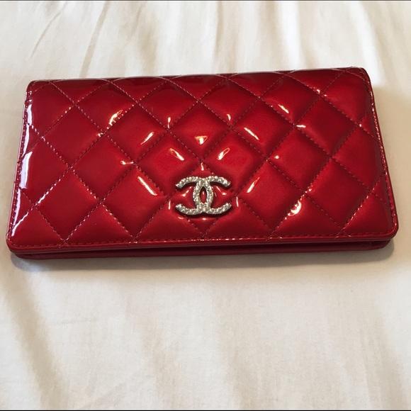 f61656493a89 CHANEL Bags | Red Lyen Wallet | Poshmark