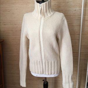 Chunky Zip Cardigan Sweater