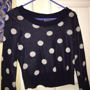 Blue & White Polka dot sweater