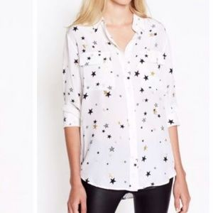 Equipment Tops - Equipment signature blouse star print