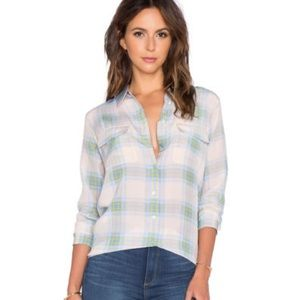 Equipment Tops - Equipment plaid blouse slim signature