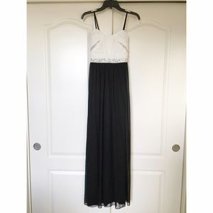 Black & White Strapless Homecoming/Prom Dress