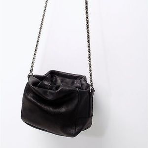 Zara Handbags - Zara Mini Leather Bucket Bag