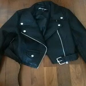 NastyGal Vegan Black moto jacket