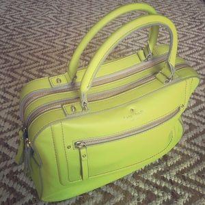 KATE SPADE adorable neon yellow handbag