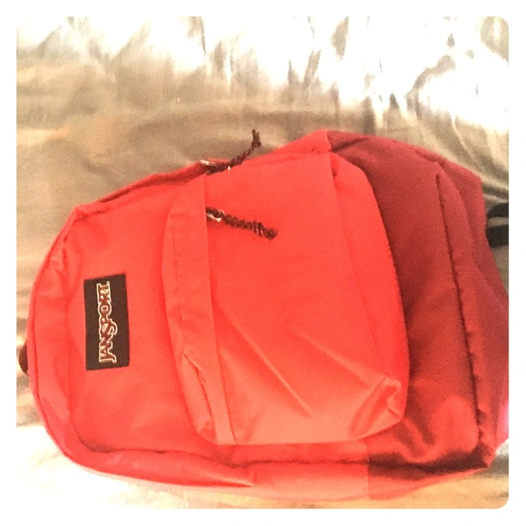 jansport bags plain red backpack poshmark