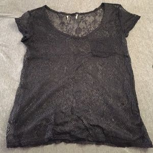 Tops - Lace top with pocket