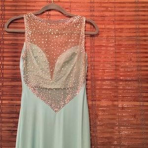Mint and sequin gown - Sz. 2