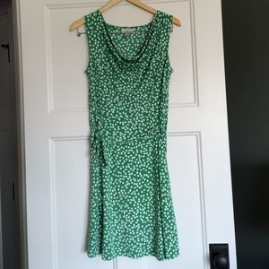 Ann Taylor LOFT sleeveless polka dot dress