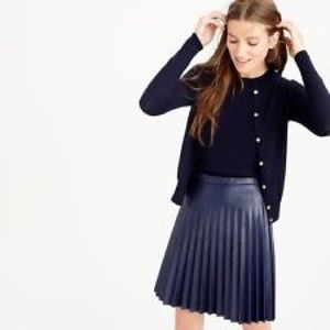 Leather pleated mini skirt – Cool novelties of fashion 2017 photo blog