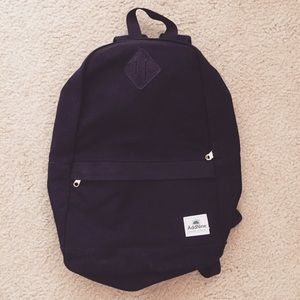 Handbags - Black canvas backpack