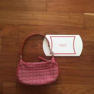 Red coach hobo monogrammed purse!