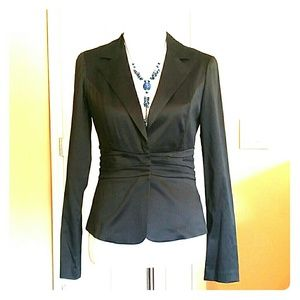 A. Byer Jackets & Blazers - Fitted Black Pinstripe Jacket