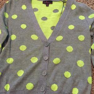 Polka Dot 3/4 Sleeve Cardigan