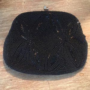 Black Seed Bead Evening Bag ✨Vintage✨