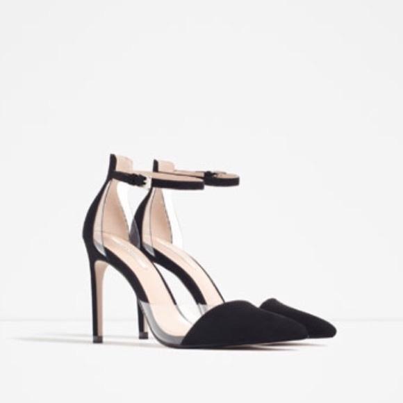 473915826b7 Zara Vinyl D orsay Heels - Black