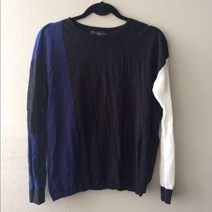 NWT Sanctuary color block knit top