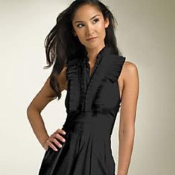 Bcbg halter black dress