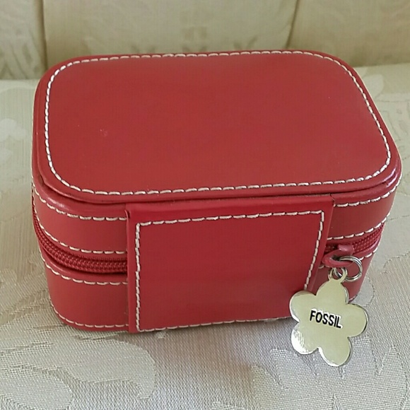 Fossil Bags Leather Jewelry Box Poshmark