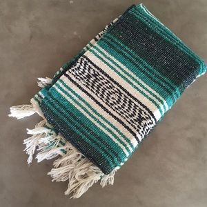 Teal Mexican Blanket *NEW*