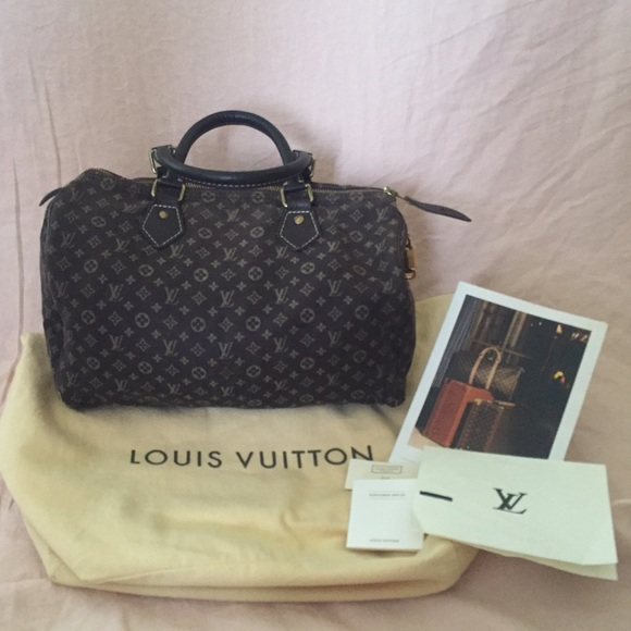 63587844de87 Louis Vuitton Handbags - Authentic Louis Vuitton mini Lin ebene speedy 30
