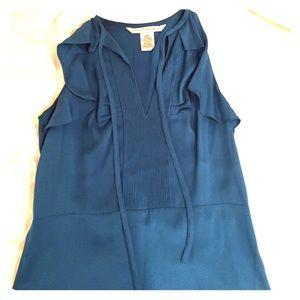 DVF blue silk top
