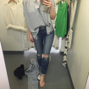 J Brand Denim - J Brand Distressed Blue Denim
