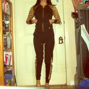 Nikki Minaj cheetah print tracksuit size small