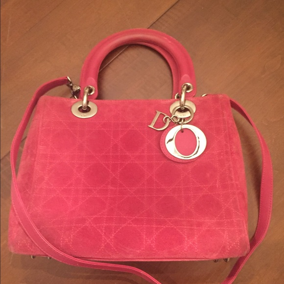 Brand new Dior Bags | Pink Christian Lady Suede Bag | Poshmark TT11