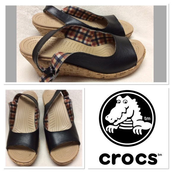 7ab7506bb4e crocs Shoes - 🆕 crocs cork wedges size 9