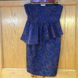 Everly strapless dress
