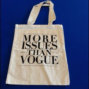 More Issues Than Vogue tote
