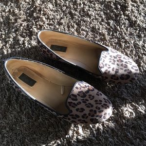 Zara shoes with leopard print