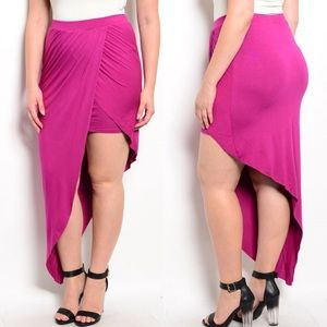 Boutique Dresses & Skirts - 🎉CLEARANCE🎉 Plus Size Fuchsia Sarong Wrap Skirt