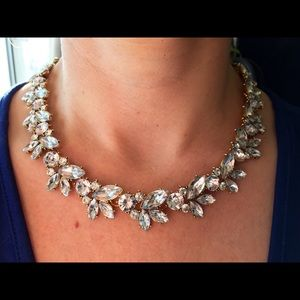 """Bedecked & Bedazzled Jewelry - """"Eve"""" Statement Crystal Necklace Set Gold"""