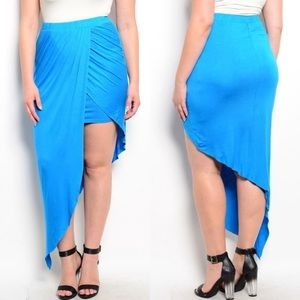 Boutique Dresses & Skirts - 🎉CLEARANCE🎉Plus Size Blue Sarong Knit Wrap Skirt
