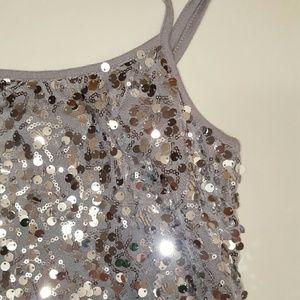 Tops - Silver Sequin Top