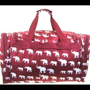 59dd52baf4 Scarlettsbags Bags - Burgundy Elephant Duffle Bag Alabama RollTide Bama
