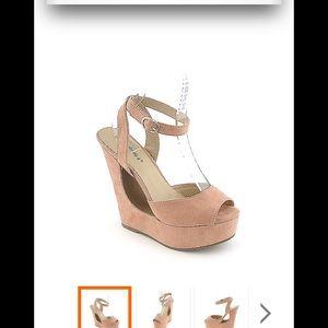 Breckelles Shoes - Blush colored  Breckelle's platform sandal