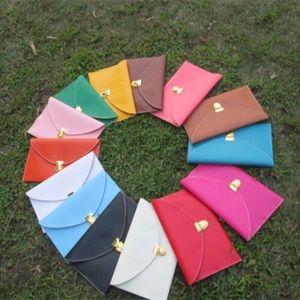 BROWN envelope clutch purse