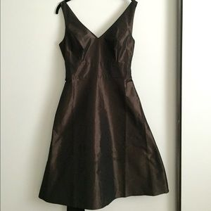 Ann Taylor brown A-line dress