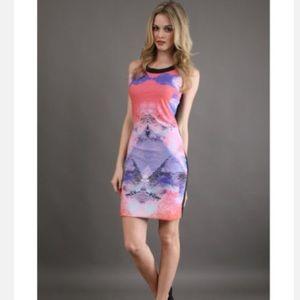 Aaron Ashe Dresses & Skirts - Aaron Ashe multicolor tank midi length dress